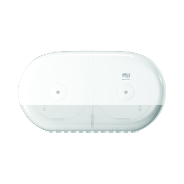 Tork SmartOne Twin Mini Toilet Paper Dispenser White 682000