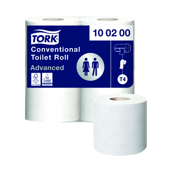 Toilet Tissue & Dispensers Tork Conventional Toilet Roll 2-Ply 200 Sheets (36 Pack) 472149
