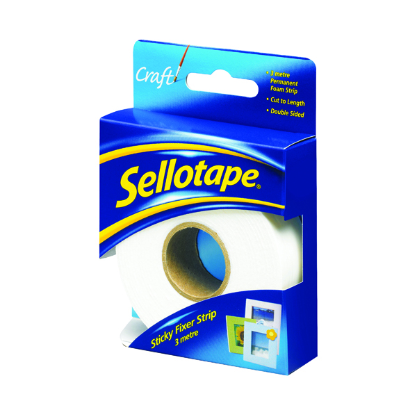 Fixers / Dots / Strips Sellotape Sticky Fixers Strip 25mm x 3m 484330