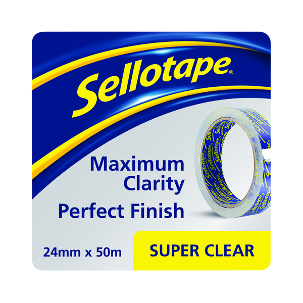 24/25mm Sellotape Super Clear Tape 24mm x 50m (6 Pack) 1569087