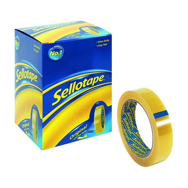 Sellotape Original Golden Tape 24mm x 50m (6 Pack) 1443266