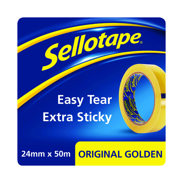 24/25mm Sellotape Original Golden Tape 24mmx50m (24 Pack) 1677859