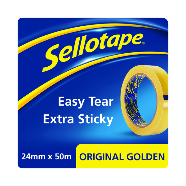Clear Tape Sellotape Original Golden Tape 24mmx50m (12 Pack) 1682926