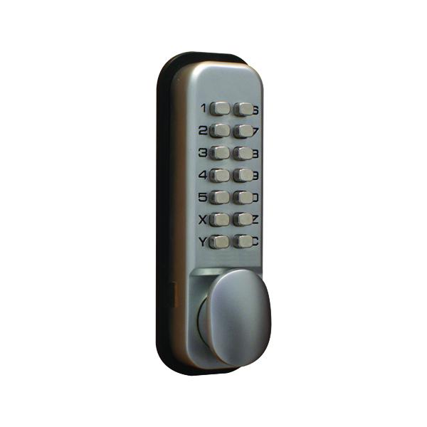 Padlocks Lockit Mechanical Push Button Digital Lock Chrome DXLOCKITHB/C