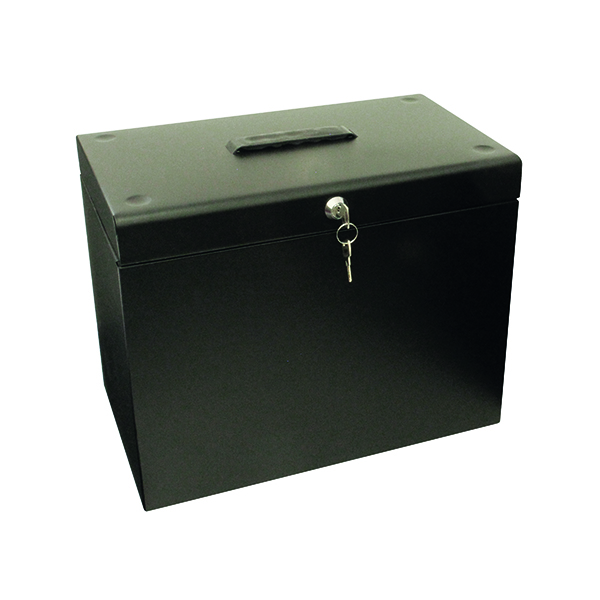 Homefiles Cathedral Metal File Box Home Office A4 Black A4BK
