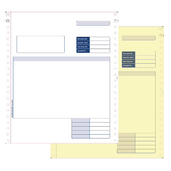 Custom Forms Sage 2 Part Dot Matrix Invoices (1000 Pack) SE02