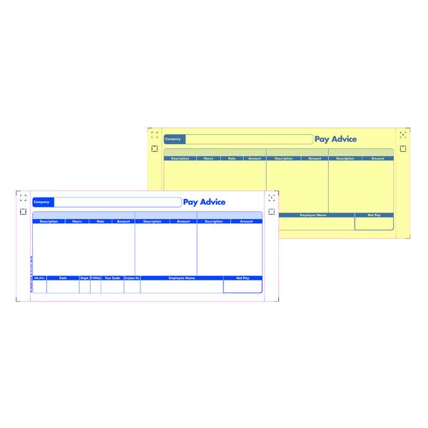 Custom Forms 2 Part Sage Payslips (1000 Pack) SE32