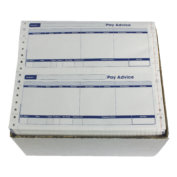Other Monies Custom Forms 3 Part Security Payslips (1000 Pack) SE33