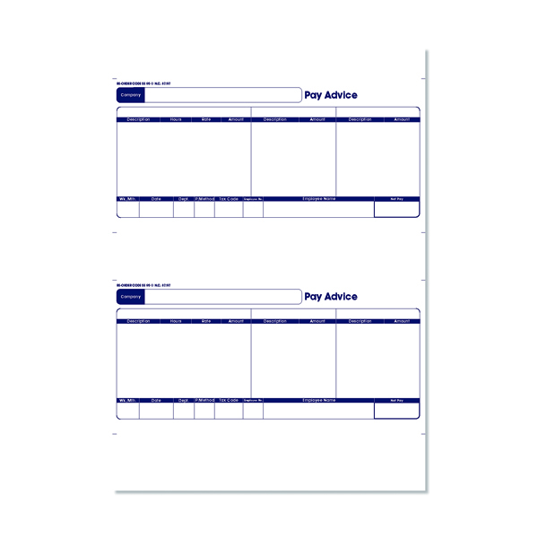 Other Monies Sage 1-Part Laser Pay Advice Forms (500 Pack) SE95S