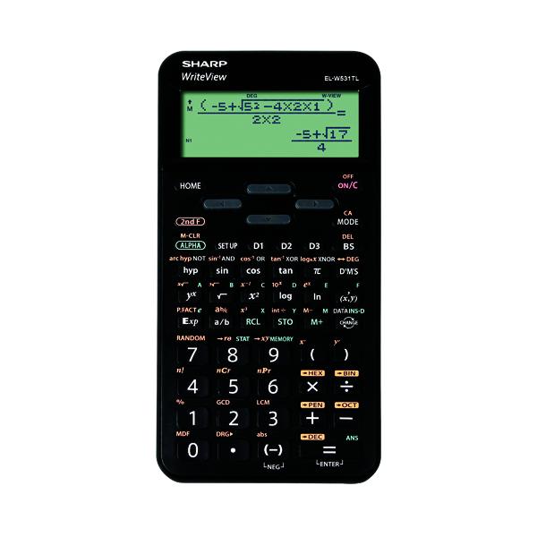 Scientific Calculator Sharp EL-W5531 Scientific Calculator Black  EL-W531TL BBK