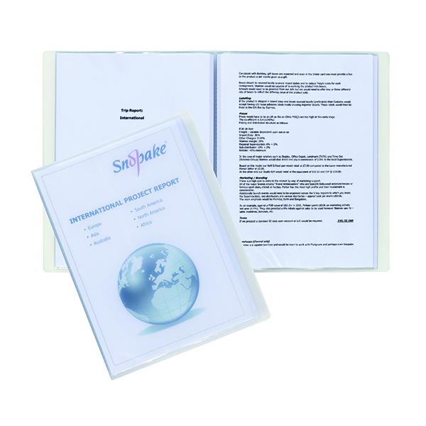 Snopake Superline Presentation Book 10 Pocket Polypropylene A4 Clear 11904