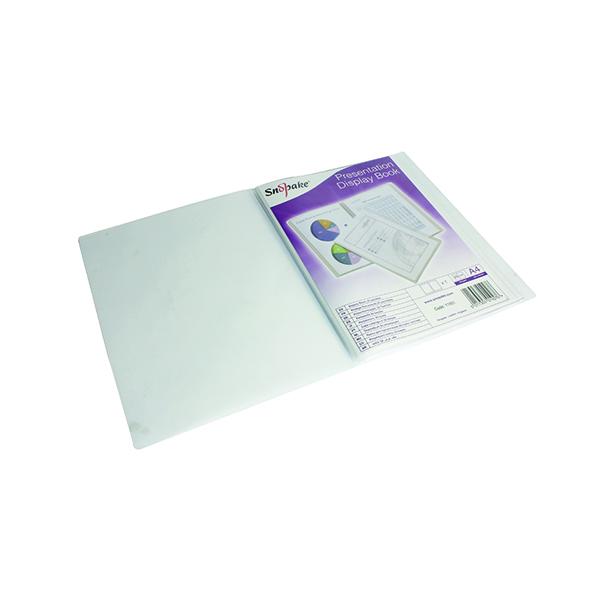 11-20 Pockets Snopake Superline Presentation Book 20 Pocket Polypropylene A4 Clear 11951
