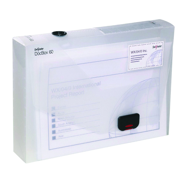 A4 Size Snopake 60mm Document Box A4 Clear 12871