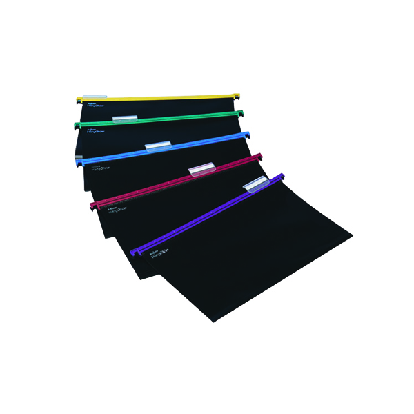 Suspension File Snopake HangGlider Suspension Files Foolscap Assorted (25 Pack) 10279