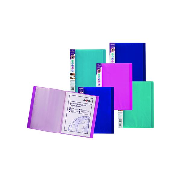 21-30 Pockets Snopake Electra Display Book 24 Pocket A4 Assorted (10 Pack) 12219