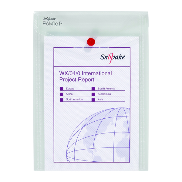 A5 Snopake Polyfile P File Wallet Portrait A5 Clear (5 Pack) 13280