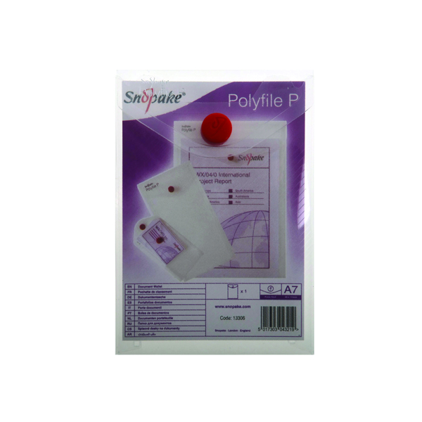 Other Sizes Snopake Polyfile P File Wallet Portrait A7 Clear (5 Pack) 13306