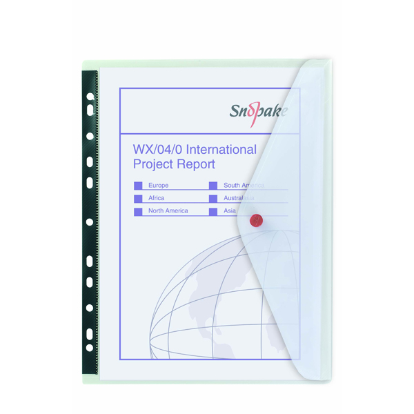 A4 Snopake Polyfile Ring Binder Wallet A4 Clear (5 Pack) 12566