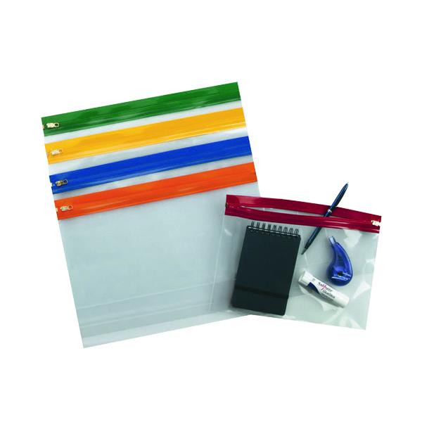 A4 Snopake Zippa-Bag S Classic A4 Assorted (25 Pack) 12796