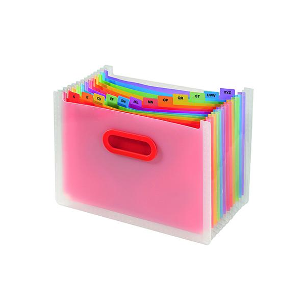 Snopake Rainbow 13 Part Desk Expander A4 15809