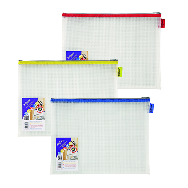 Other Sizes Snopake EVA Mesh Zippa-Bag 277 x 362mm Assorted (3 Pack) 15819