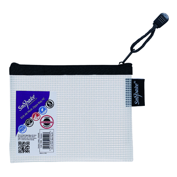 Other Sizes Snopake Eva Mesh Zippa Bag A6 (3 Pack) 15856