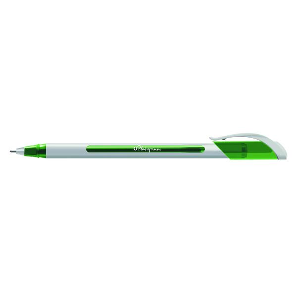 Snopake Platignum S-Tixx Ballpoint Pen Green (12 Pack) 50515