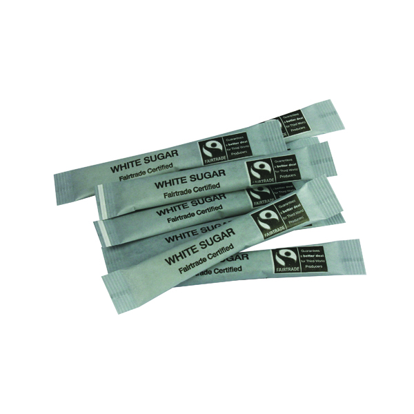 Sugar Fairtrade White Sugar Sticks (1000 Pack) A03622