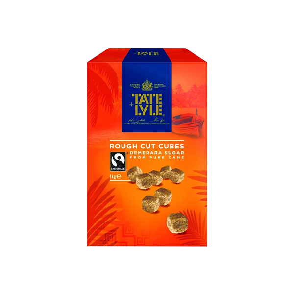 Sugar / Sweetener Tate and Lyle Demerara Rough Cut Sugar Cubes 1kg 21J1003
