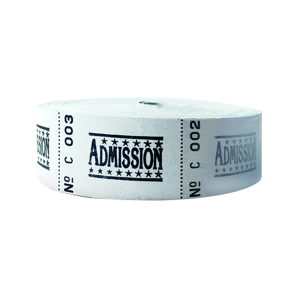 Roll Ticket Admission Assorted 50022 ITAD