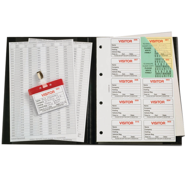 Unspecified Identibadge Complete Visitors Book 300 Insert IBVBSYS300
