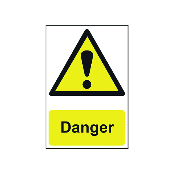 Signs Spectrum Industrial Danger S/A PVC Sign 200x300mm 1301