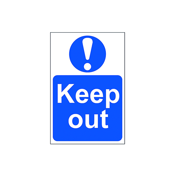 Signs Spectrum Industrial Keep Out S/A PVC Sign 200x300mm 0255