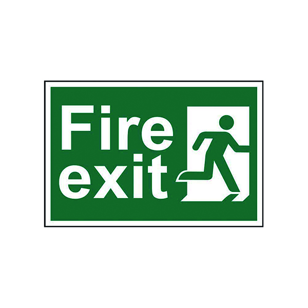 Fire Spectrum Industrial Fire Exit RM Right S/A PVC Sign 300x200mm 1507