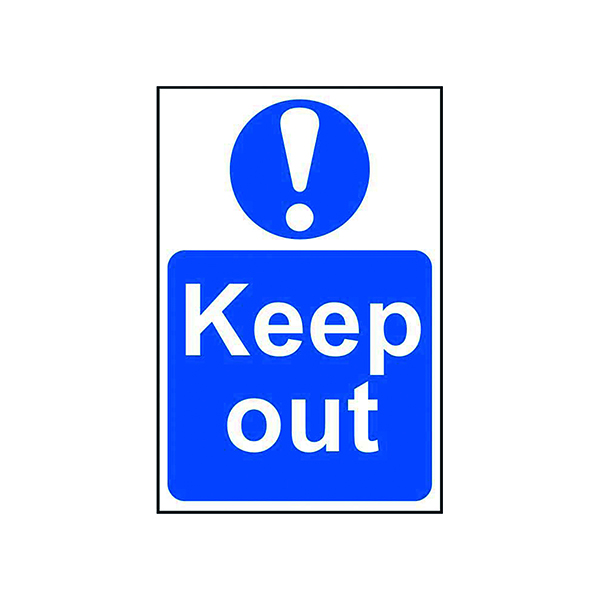 Signs Spectrum Industrial Keep Out S/A PVC Sign 400x600mm 4003
