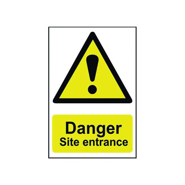 Advice Spectrum Industrial Danger Site Entrance S/A PVC Sign 400x600mm 4102