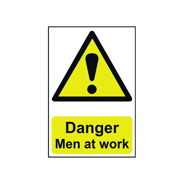 Advice Spectrum Industrial Danger Men At Work S/A PVC Sign 400x600mm 4104
