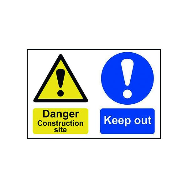 Advice Spectrum Industrial Danger Construction Site S/A PVC Sign 600x400mm 4005