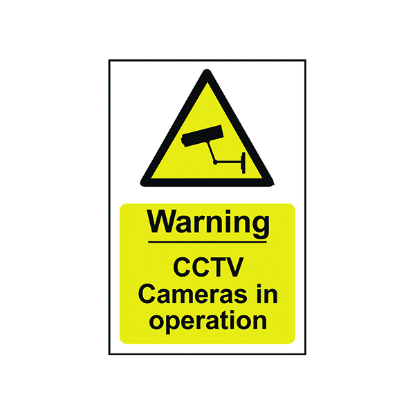 Signs Spectrum Industrial Warning CCTV Cameras In Op S/A PVC Sign 200x300mm 1311