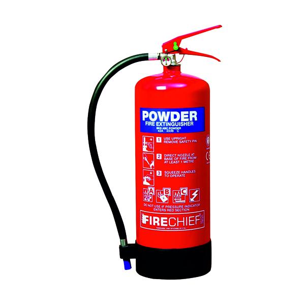 Dry Powder Spectrum Industrial Fire Extinguisher ABC Powder 9kg 14369