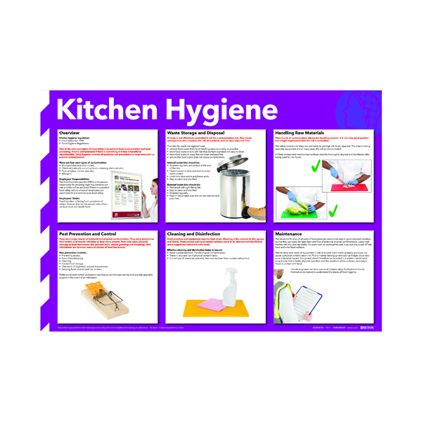Advice Kitchen Hygiene Poster 420x594mm FA607