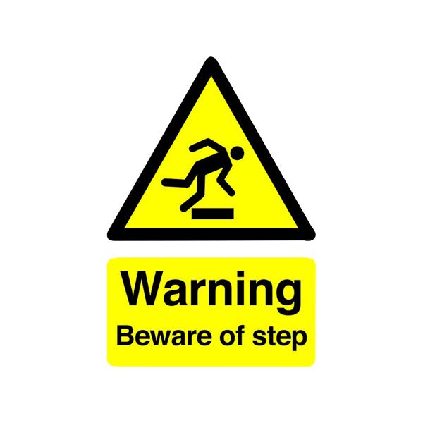 Advice Safety Sign Warning Beware of Step A5 Self-Adhesive HA21451S