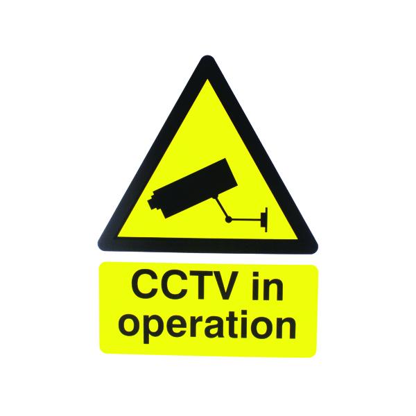Signs Warning Sign 400x300mm CCTV In Operation PVC CTV3B/R