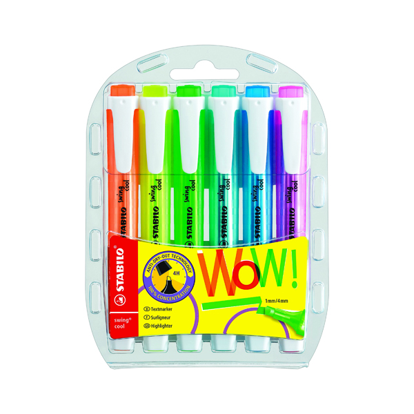 Assorted Stabilo swing cool Assorted Highlighters (6 Pack) 275/6-3