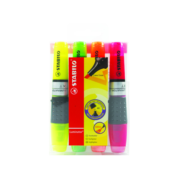 Assorted Stabilo Luminator Assorted Highlighters (4 Pack) 71/4