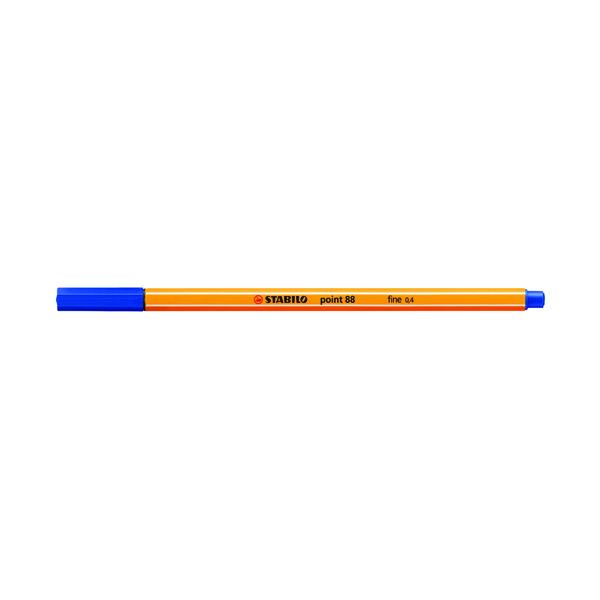 Blue Stabilo Point 88 Fineliner Pen Blue (10 Pack) 88/41