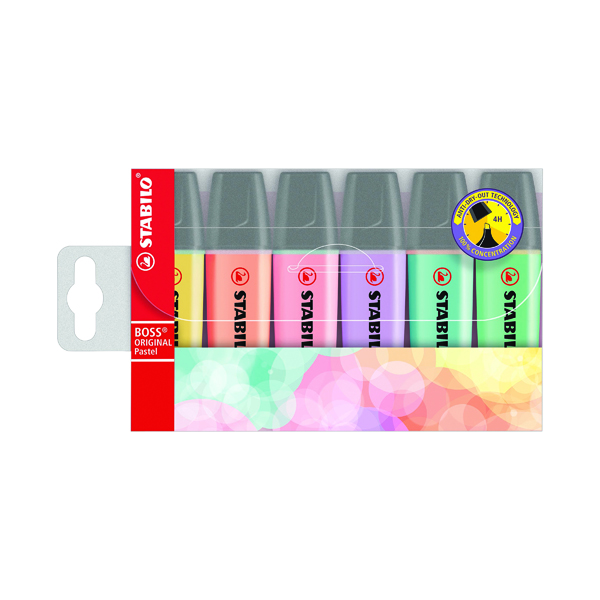 Assorted Stabilo Boss Original Highlighters Assorted Pastel Colours (6 Pack) 70/4-2