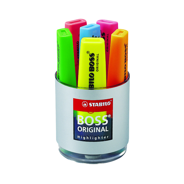Assorted Stabilo Boss Original Highlighter Assorted Deskset (6 Pack) 7006