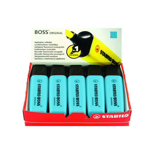 Stabilo Boss Original Blue Highlighter (10 Pack) 70/31/10
