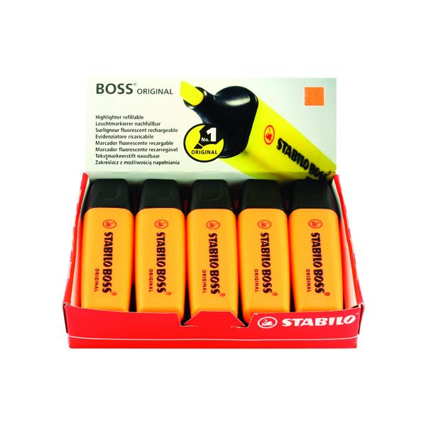 Stabilo Boss Original Orange Highlighter (10 Pack) 70/54/10
